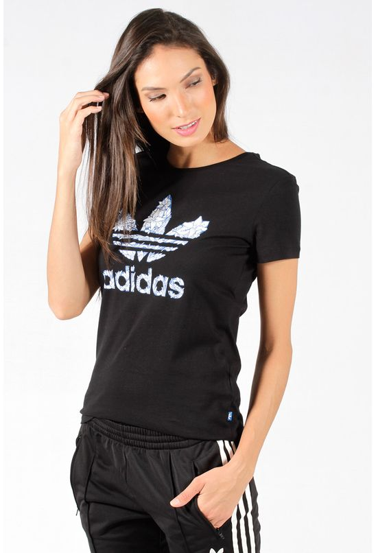 Camiseta Adidas Originals Trefoil 2 Preta - BabadoTop 958143b985cdf