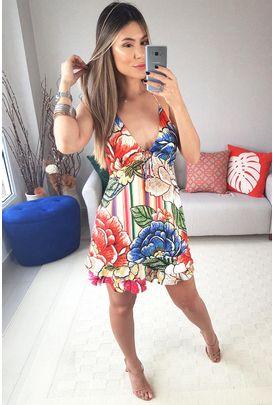 0f933ac59 Babados - Vestidos Farm Vestido Curto de R 0