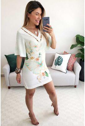 48890b1dd751 Babados - Vestidos de R$0,00 até R$50,00 Vestido Curto Off White ...